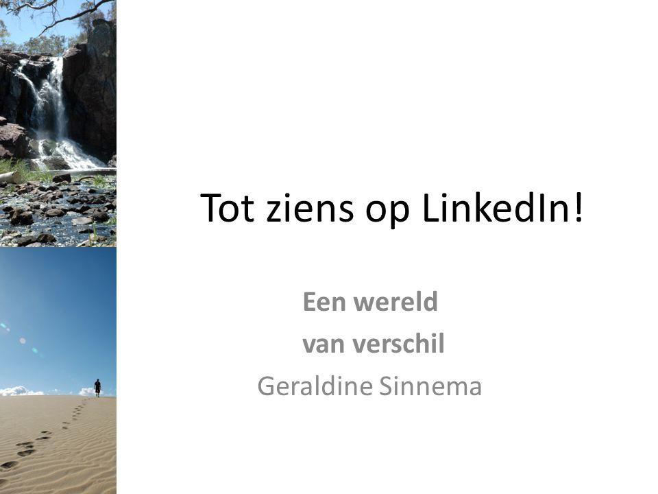 Een wereld van verschil Geraldine Sinnema