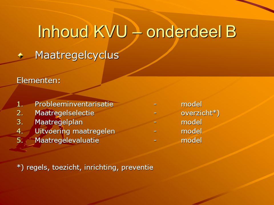 Inhoud KVU – onderdeel B
