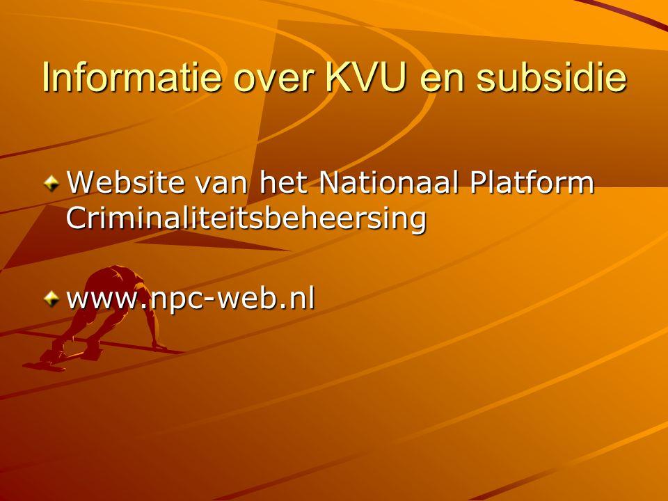 Informatie over KVU en subsidie