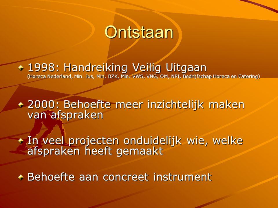 Ontstaan 1998: Handreiking Veilig Uitgaan
