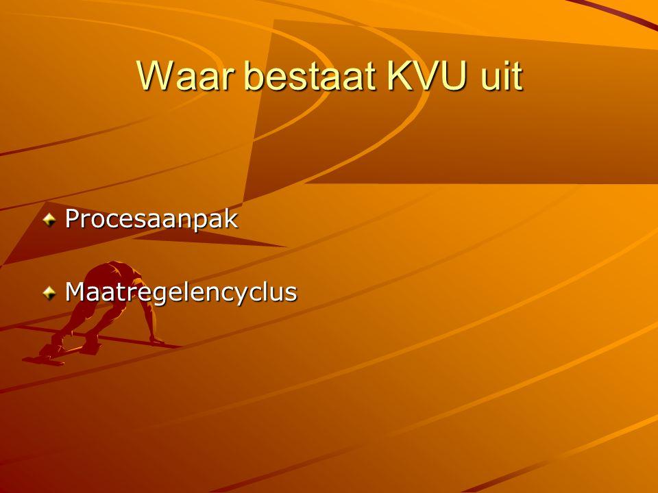 Waar bestaat KVU uit Procesaanpak Maatregelencyclus