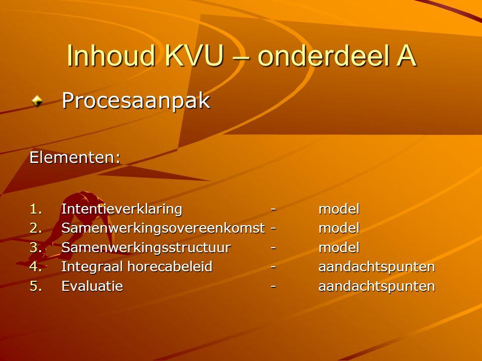 Inhoud KVU – onderdeel A