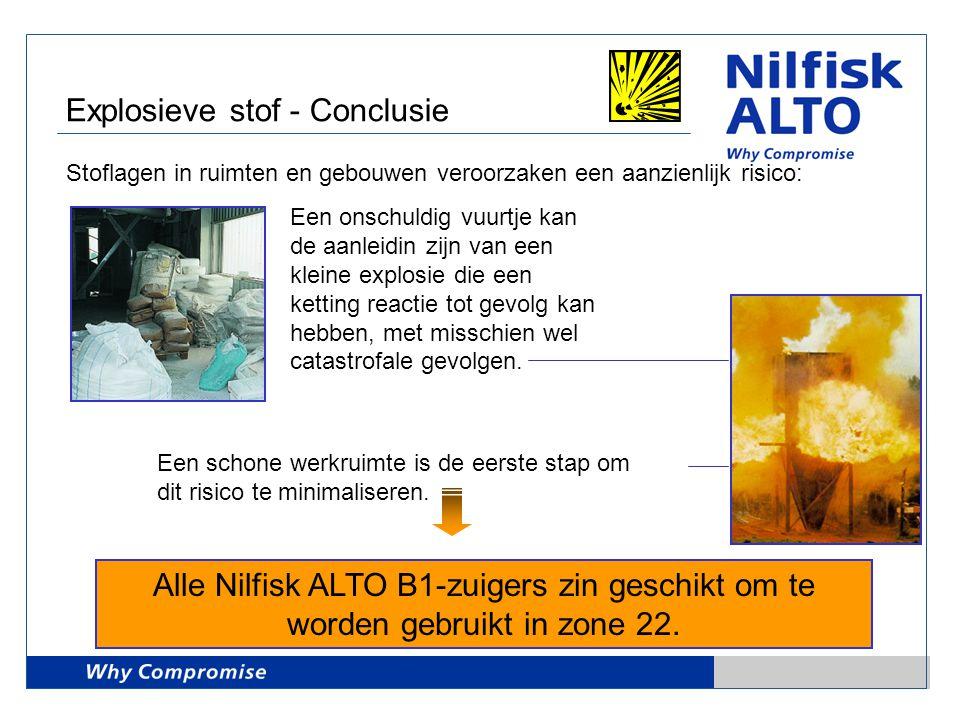 Explosieve stof - Conclusie
