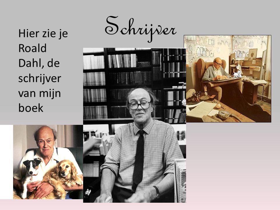 Schrijver Hier zie je Roald Dahl, de schrijver van mijn boek