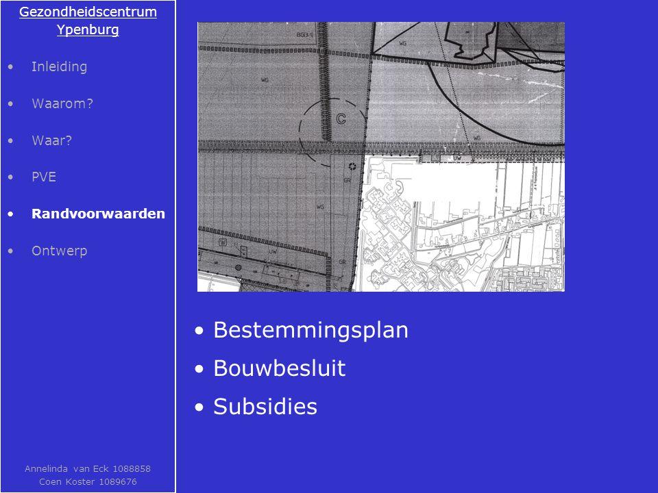 Bestemmingsplan Bouwbesluit Subsidies Gezondheidscentrum Ypenburg