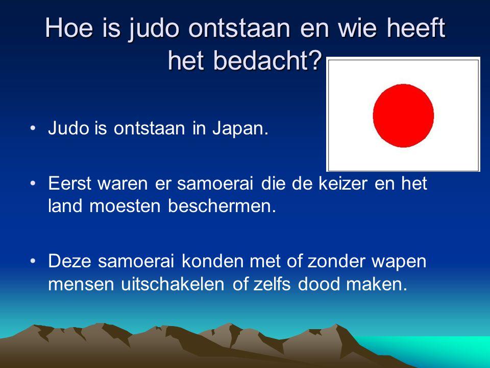 Hoe is judo ontstaan en wie heeft het bedacht