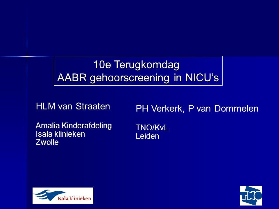 AABR gehoorscreening in NICU's