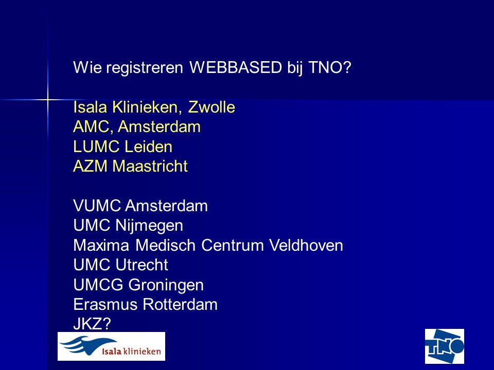 Wie registreren WEBBASED bij TNO