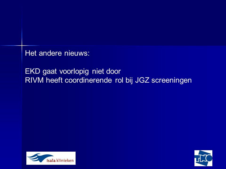 Het andere nieuws: EKD gaat voorlopig niet door RIVM heeft coordinerende rol bij JGZ screeningen