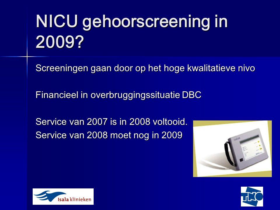 NICU gehoorscreening in 2009