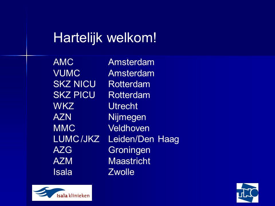 Hartelijk welkom! AMC Amsterdam VUMC Amsterdam SKZ NICU Rotterdam