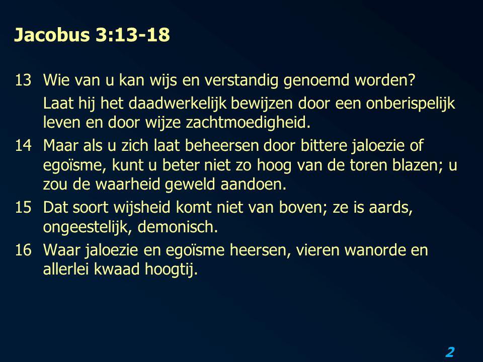 Jacobus 3:13-18