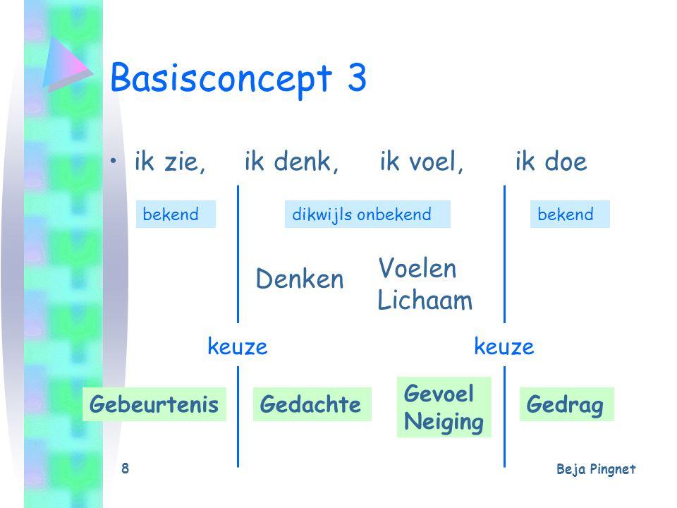 Basisconcept 3 ik zie, ik denk, ik voel, ik doe Voelen Denken Lichaam