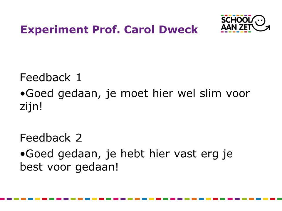 Experiment Prof. Carol Dweck