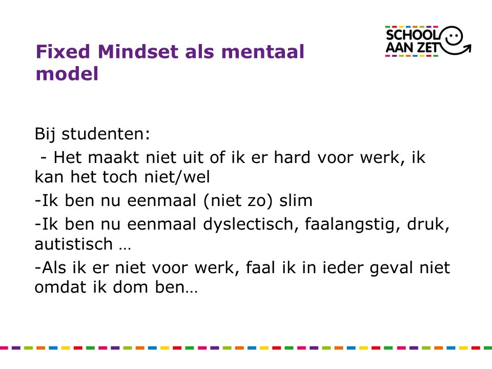 Fixed Mindset als mentaal model