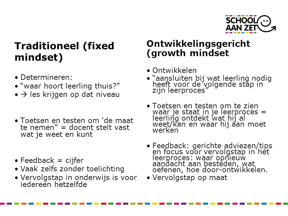 Traditioneel (fixed mindset)