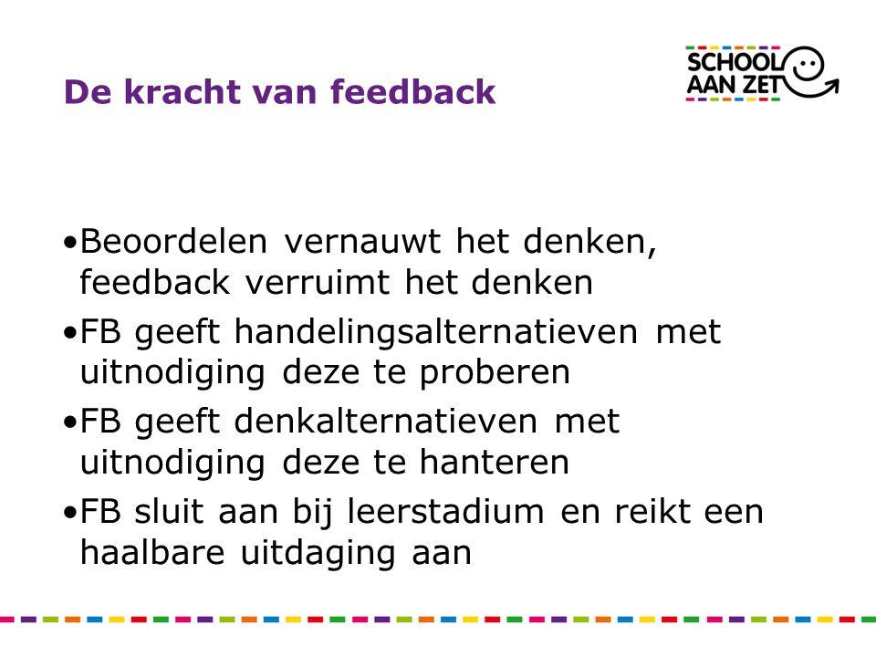 Beoordelen vernauwt het denken, feedback verruimt het denken