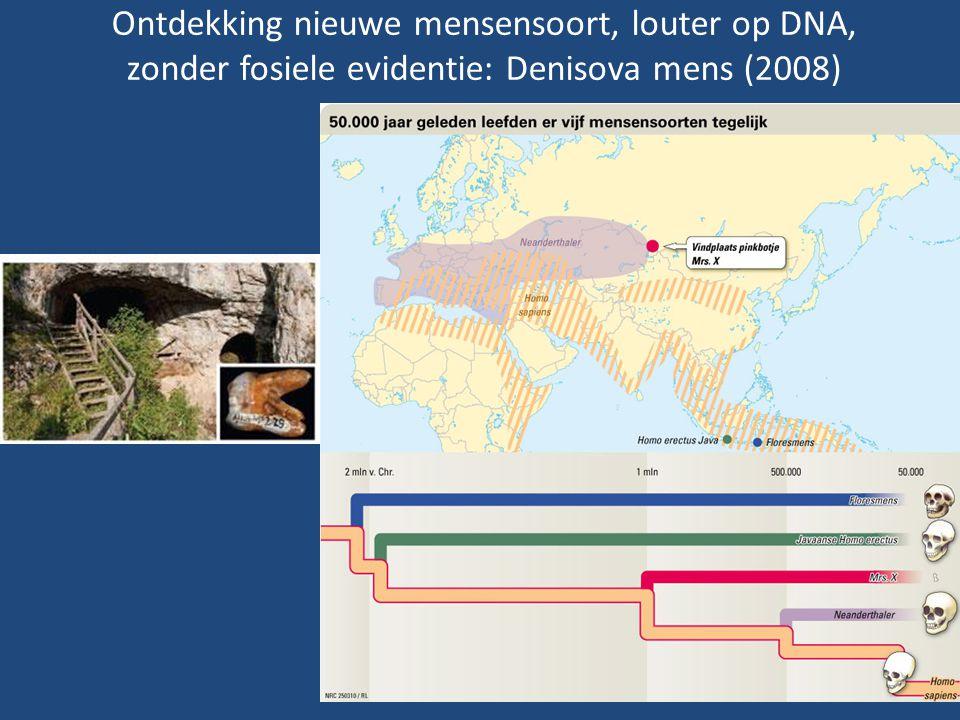 Ontdekking nieuwe mensensoort, louter op DNA, zonder fosiele evidentie: Denisova mens (2008)