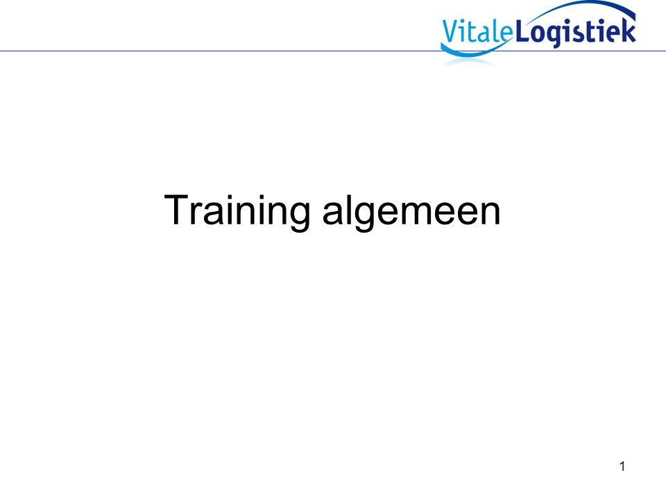 Training algemeen