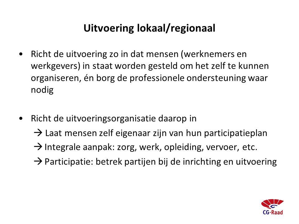 Uitvoering lokaal/regionaal
