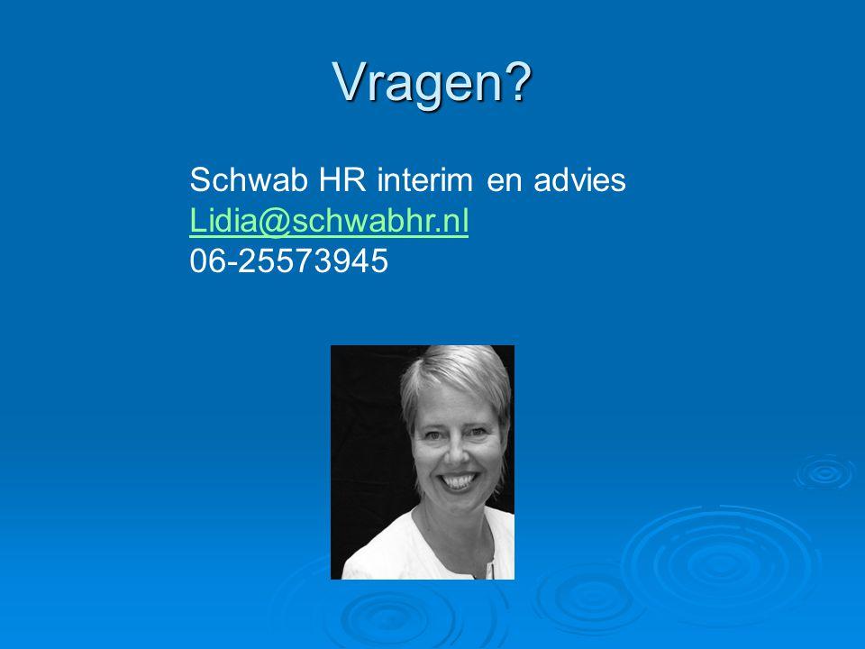 Vragen Schwab HR interim en advies Lidia@schwabhr.nl 06-25573945