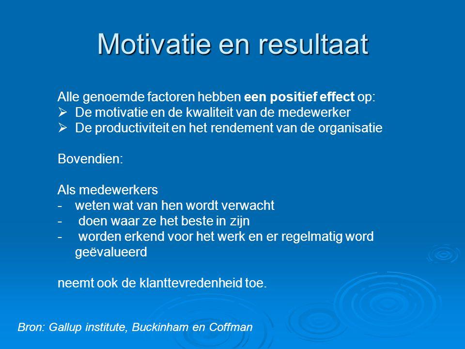 Motivatie en resultaat