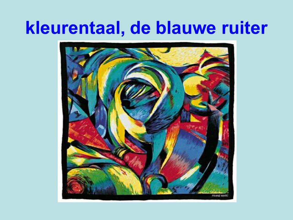 kleurentaal, de blauwe ruiter