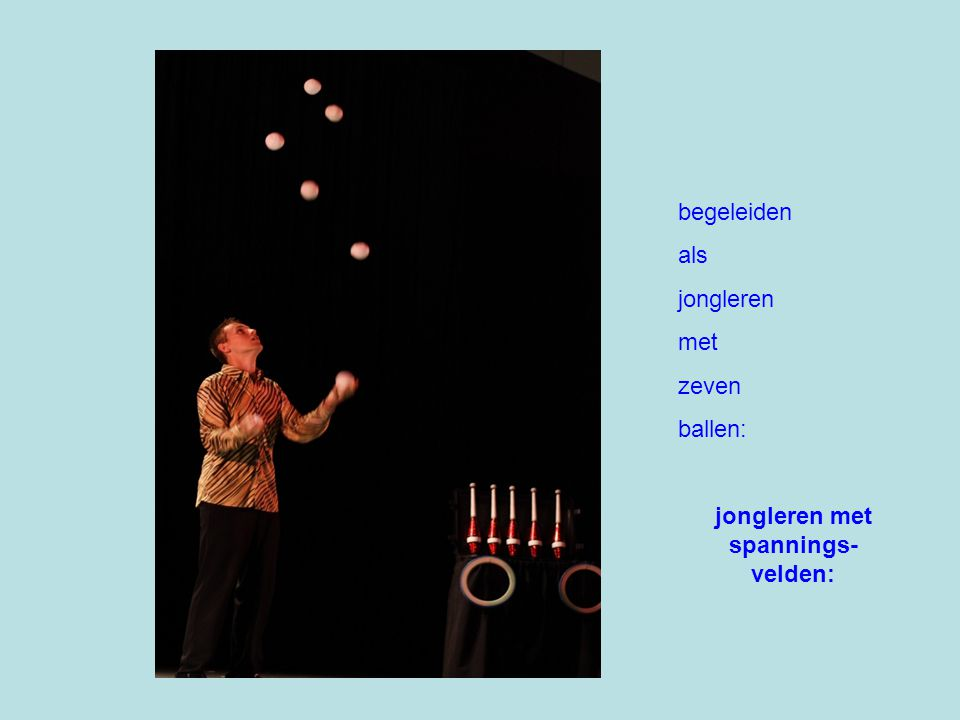begeleiden als jongleren met zeven ballen: jongleren met spannings- velden: