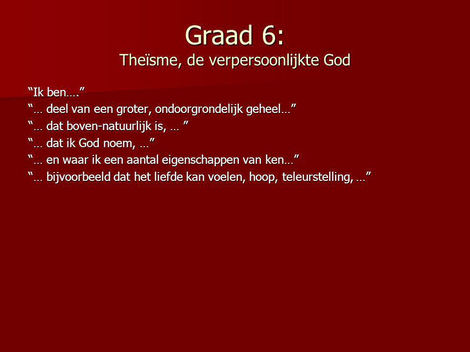 Graad 6: Theïsme, de verpersoonlijkte God
