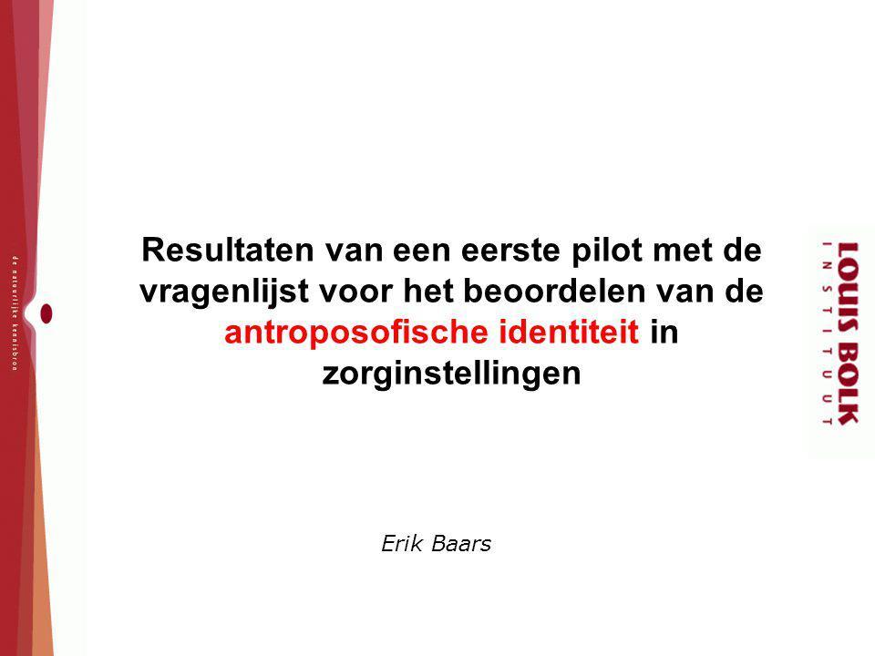Resultaten van een eerste pilot met de vragenlijst voor het beoordelen van de antroposofische identiteit in zorginstellingen