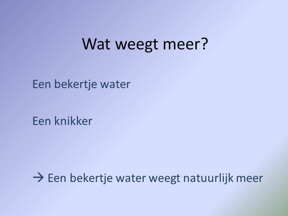 Een bekertje water Een knikker