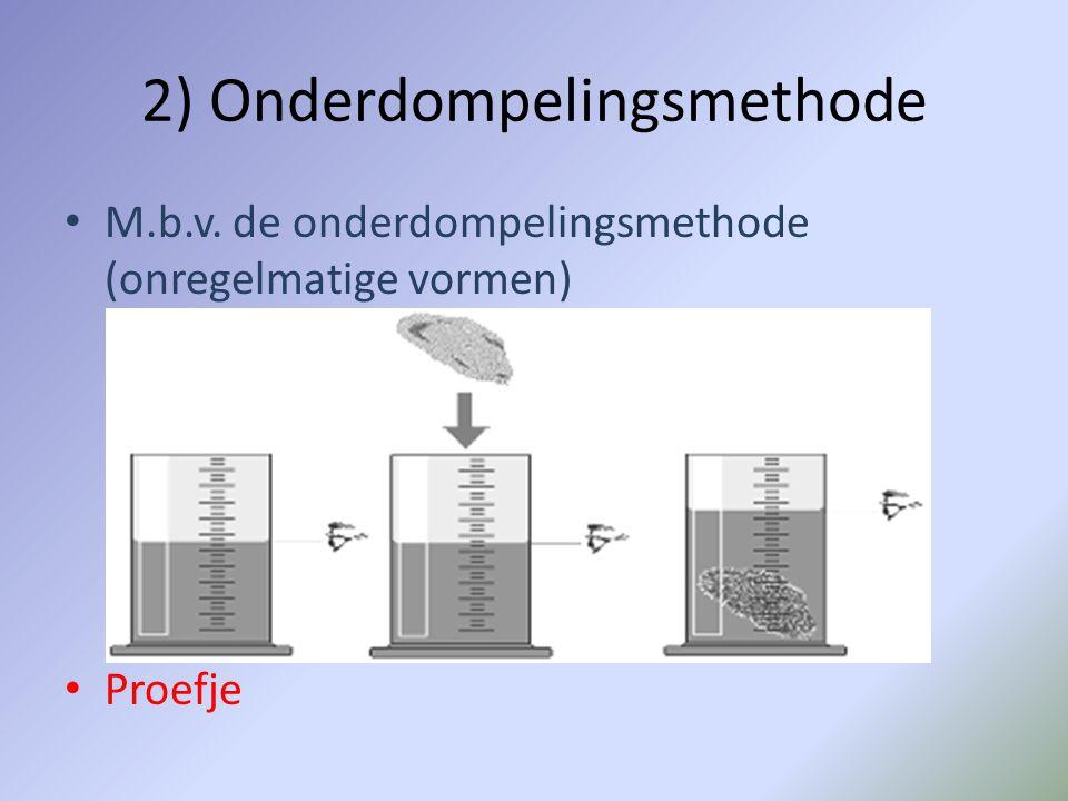 2) Onderdompelingsmethode