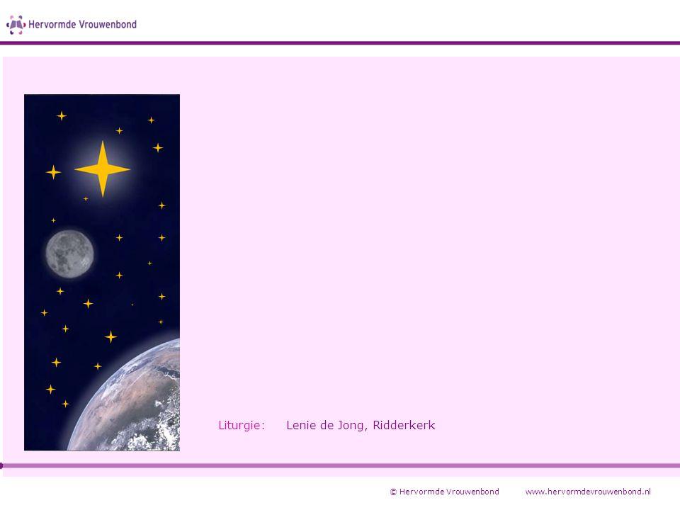 Liturgie: Lenie de Jong, Ridderkerk