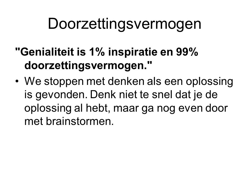 Doorzettingsvermogen