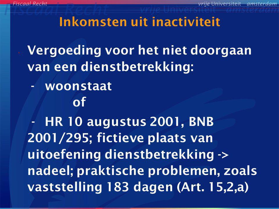 Inkomsten uit inactiviteit