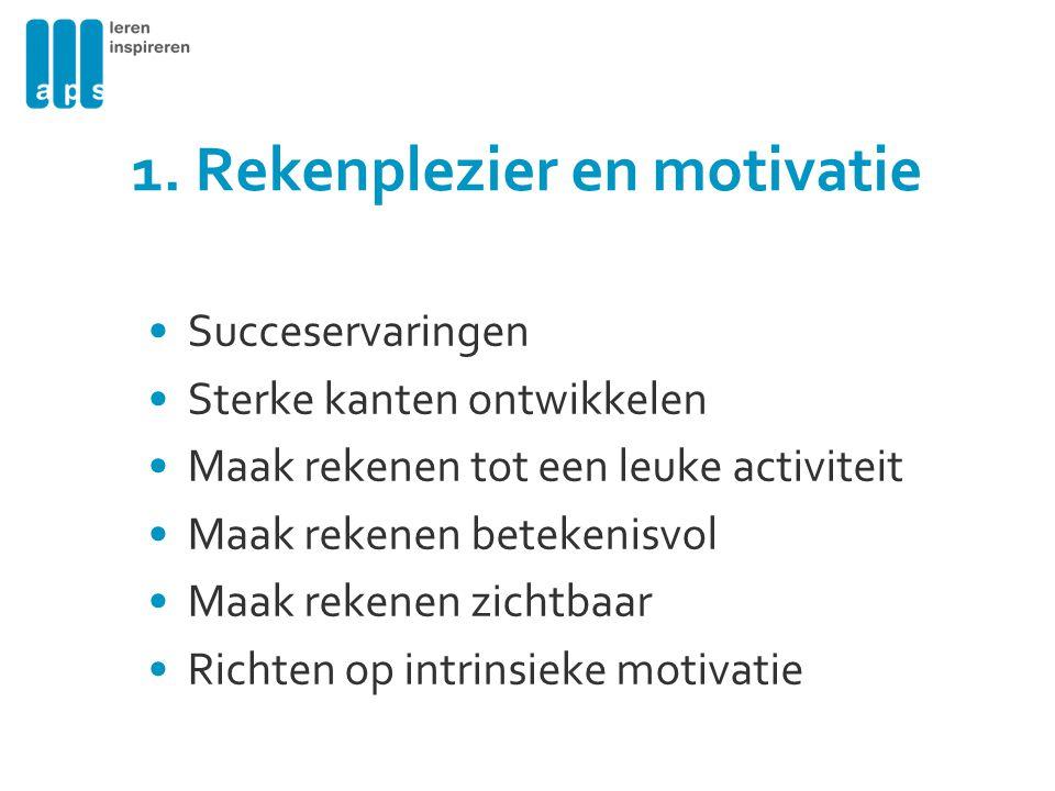 1. Rekenplezier en motivatie