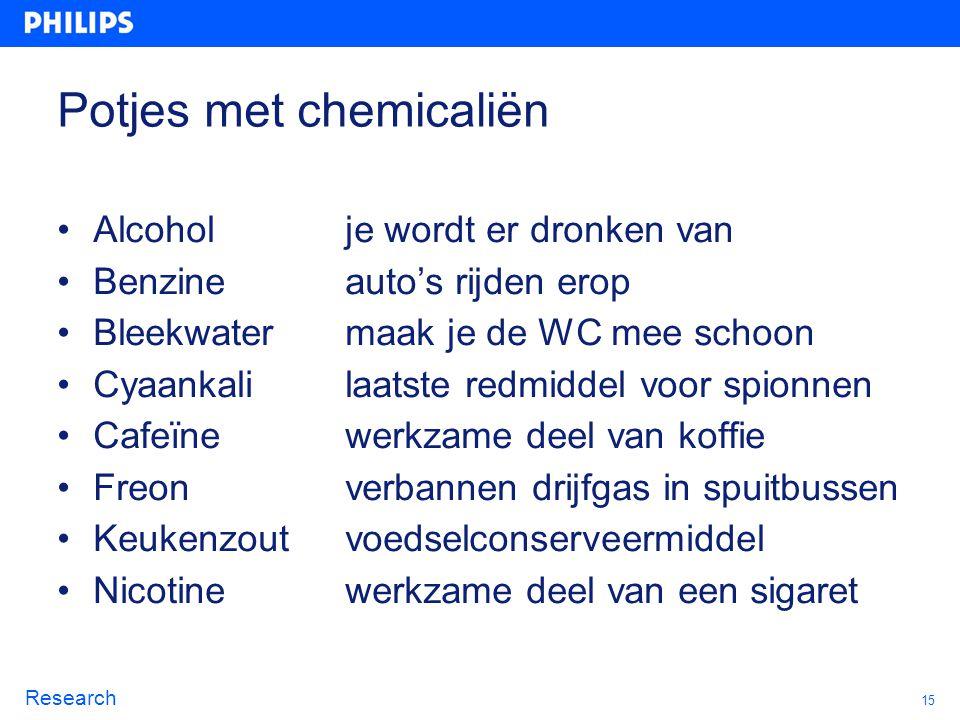 Potjes met chemicaliën