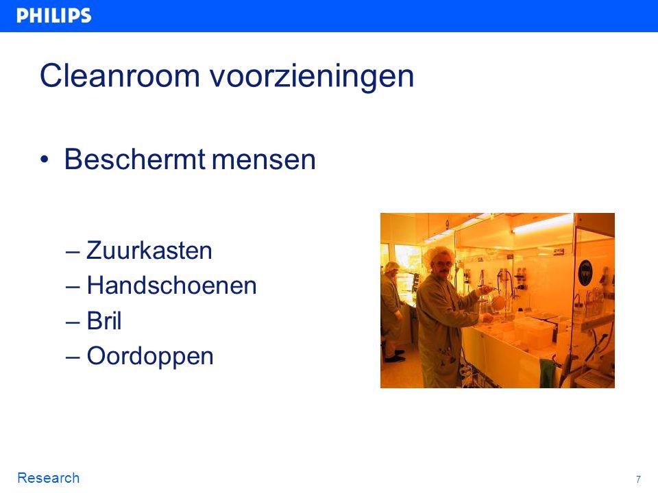 Cleanroom voorzieningen