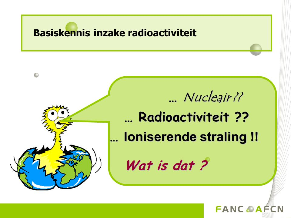 … Ioniserende straling !!