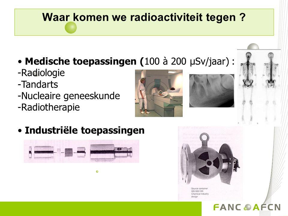 Waar komen we radioactiviteit tegen