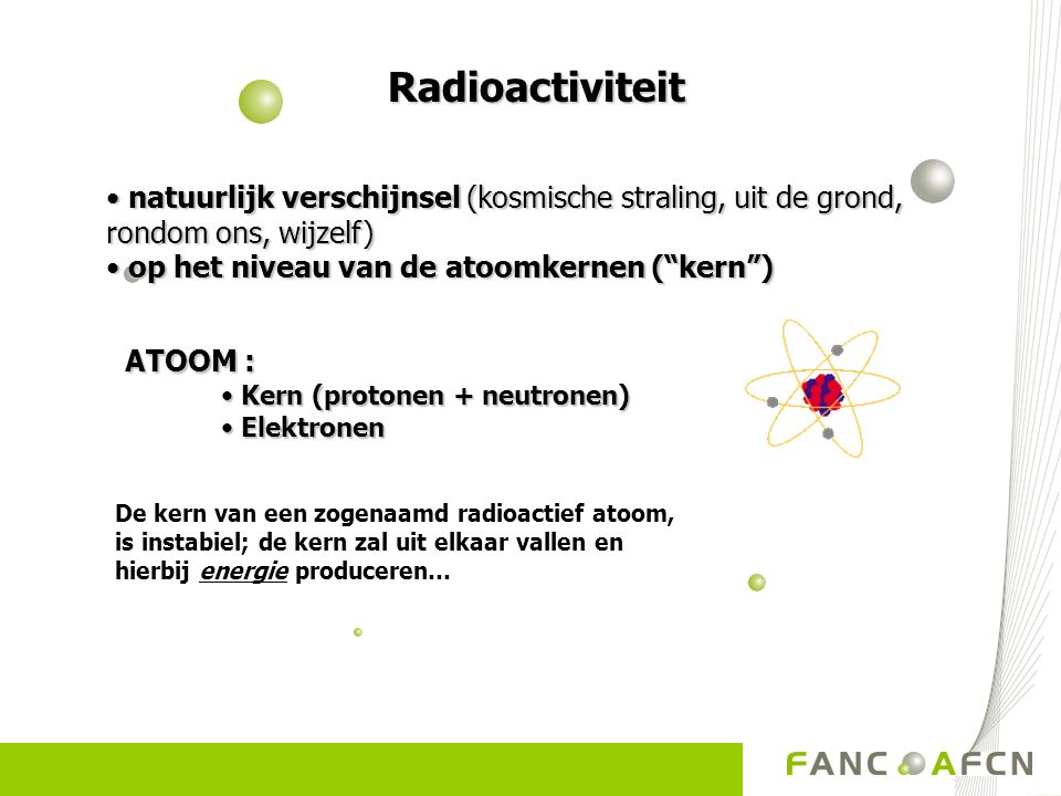 Radioactiviteit ATOOM :