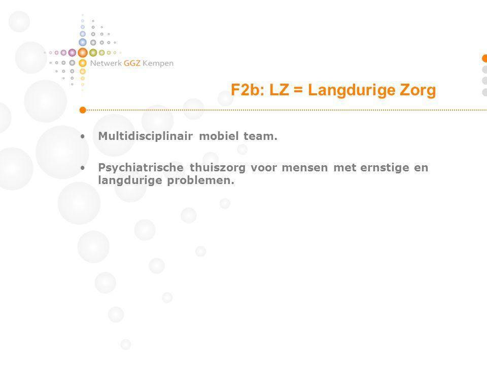 F2b: LZ = Langdurige Zorg