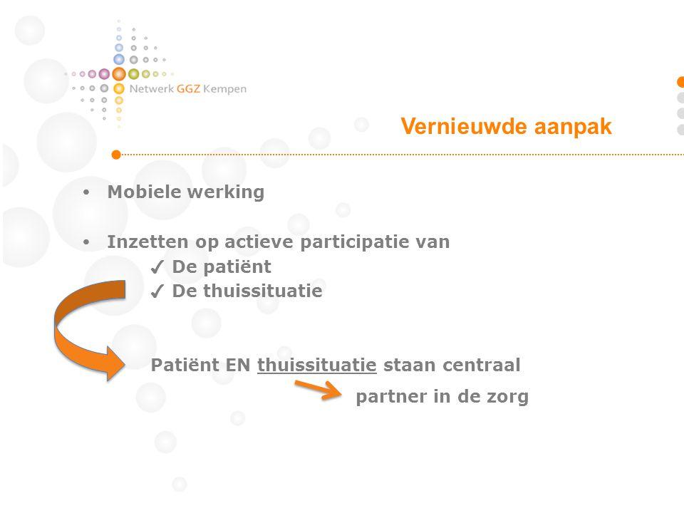 Vernieuwde aanpak partner in de zorg  Mobiele werking