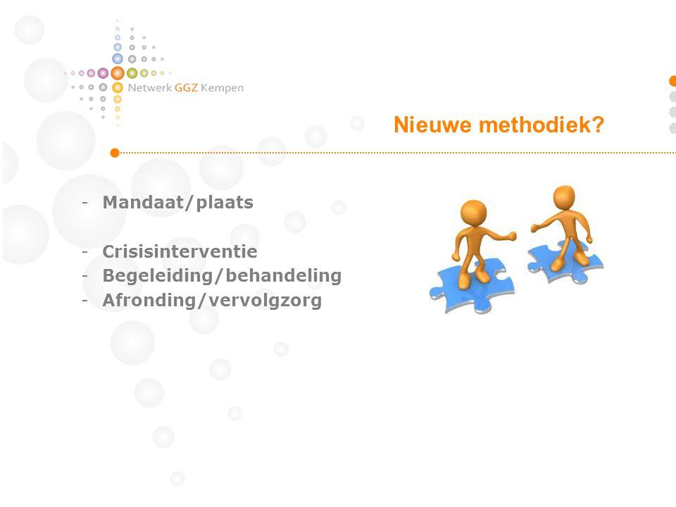 Nieuwe methodiek Mandaat/plaats Crisisinterventie