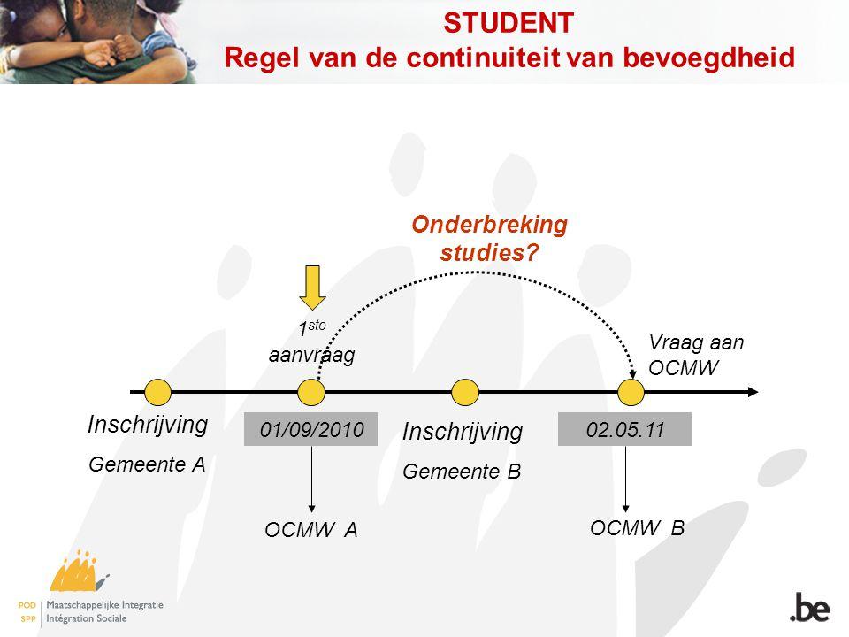 STUDENT Regel van de continuiteit van bevoegdheid