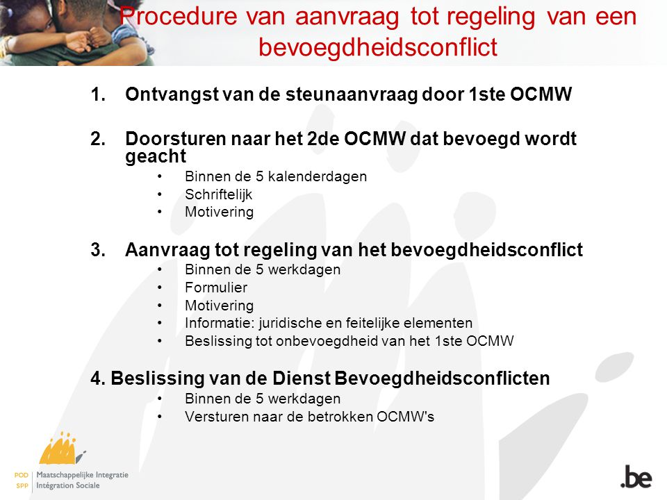 Procedure van aanvraag tot regeling van een bevoegdheidsconflict