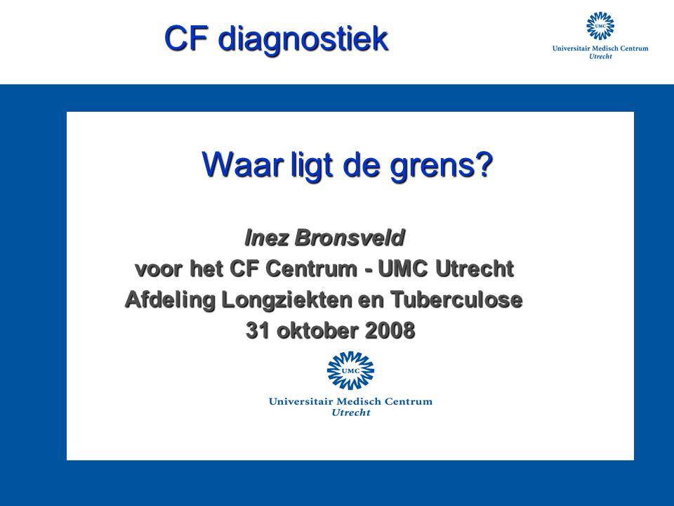 CF diagnostiek Waar ligt de grens