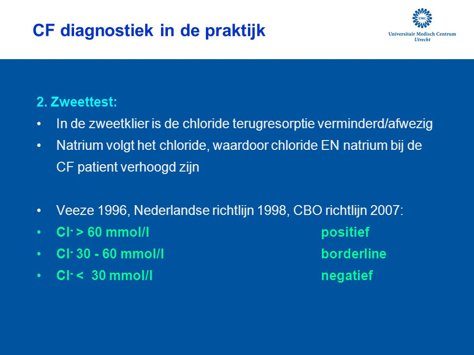CF diagnostiek in de praktijk