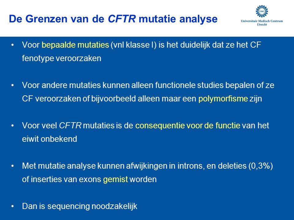 De Grenzen van de CFTR mutatie analyse