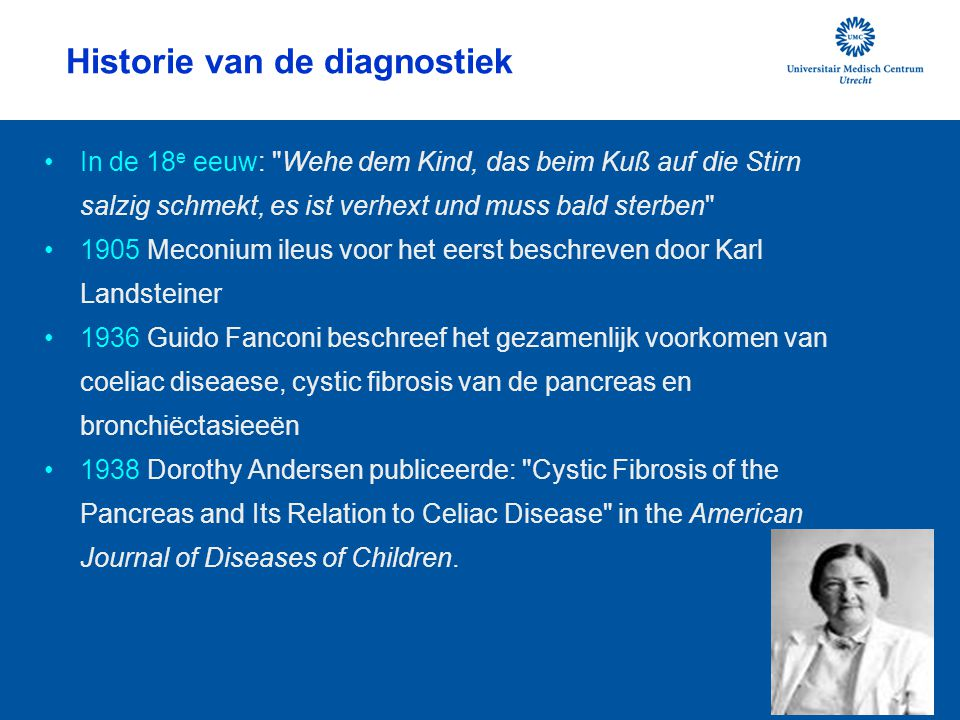 Historie van de diagnostiek